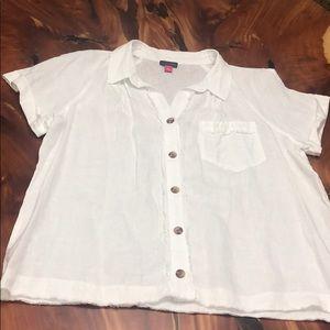 VINCE CAMUTO Dolman-Sleeve Linen Shirt